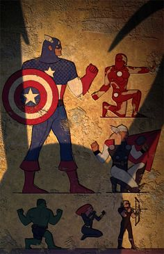 The Avengers Egyptian style!  Love it! This is by Christian Nauck.  A bad ass illustrator!   Follow the links!