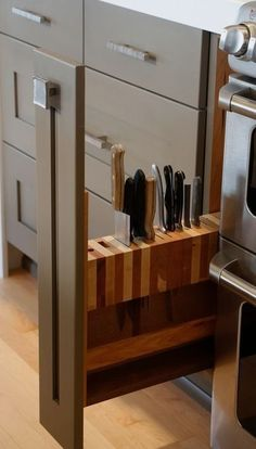 Knife block in narrow cabinet!!!!