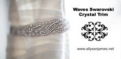 Waves Swarovski Crystal Trim