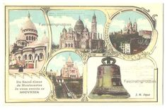 5 Vintage different early French Postcards  by FascinatingHobbies