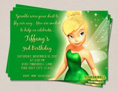 Tinkerbell Birthday Invitation by PerfectPrintsStudio on Etsy, $5.00