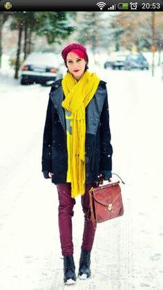 vivid color in winter