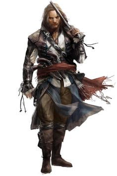Edward Kenway concept from Assassin's Creed IV: Black Flag