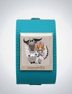 """My possible """"something blue."""" Junko Mizuno's """"Wedding"""" in a Morphik turquoise leather cuff, $170.    Edit: I actually won this bracelet in a contest from Morphik, so now it's officially my """"something blue""""!"""