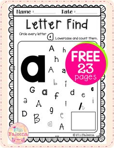 Letter of the Week A has 23 pages of alphabet worksheets.  It perfect for Preschool, kindergarten, and first grade students. It will help to teach your students to recognize, read, write, solve, and listen for the beginning sound of that letter.  Preschool | Kindergarten | Kindergarten Worksheets | First Grade | Alphabet | Alphabet Letter of the Week | Phonics | Free Lessons | Morning Work | Literacy Centers