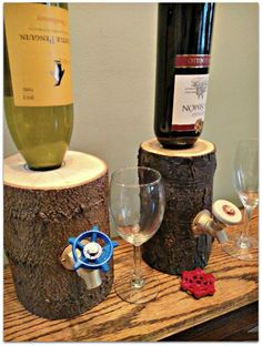 Handmade-Log-Liquor-Dispenser-1
