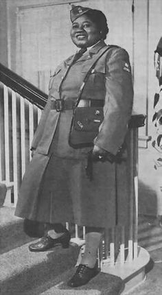 "Hattie McDaniel, Oscar winner for ""Gone WIth the Wind,"" was a member of the American Women's Voluntary Services (AWVS) during WWII."