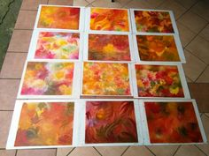 Corso di pittura: Foglie d'autunno -acquarello su carta bagnata