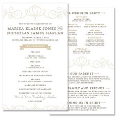 Heart Program - Unique Wedding Program by The Green Kangaroo