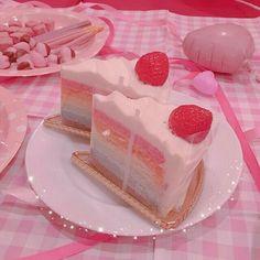 pink pastel aesthetic dark foods soft cake trendy title fries