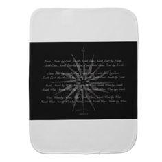nautical compass points baby burp cloth - gift for him present idea cyo design