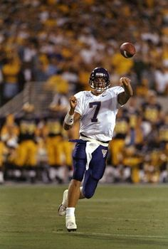 Quarterback Brock Huard of the Washington Huskies throws a pass during a game against the Arizona State Sun Devils at the Sun Devil Stadium in Tempe...