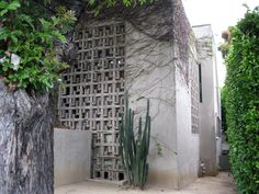 Lloyd Wright Home and Studio West Hollywood, Hollywood California, Wayfarers Chapel, Hollyhock, Frank Lloyd Wright, Indoor Outdoor, Outdoor Structures, Jr, Studio
