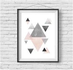 Scandinavian Wall Art Scandinavian Print Geometric by PrintAvenue