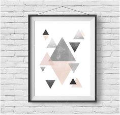 Scandinavian Wall Art Scandinavian Print Geometric di PrintAvenue