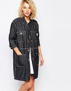 Image 1 - Carhartt - Chore - Manteau long à rayures et motif cœurs