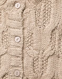 CABLE KNIT CARDIGAN WITH GLITTER BUTTONS - Cardigans and sweaters - Girl (2-14 years) - Kids - ZARA United States