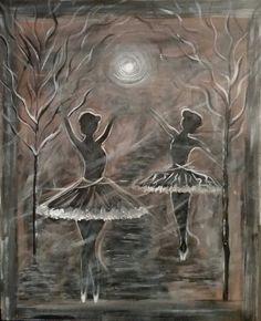 2 Ballerinas by L Gaudet on Etsy. Visit lgaudetart.ca to view more paintings.