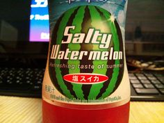 Salty Watermelon Pepsi - and other seasonal junk food from 2012 in Japan