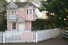 Ferndale, California mini-Victorian. If I can't have my mansion then I'm copying this!