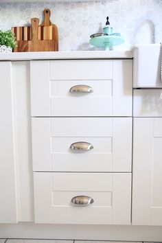 cabinet hardware cup pulls on the drawers is a must home is rh pinterest com 3 5 Black Cup Pulls Cup Style Drawer Pulls