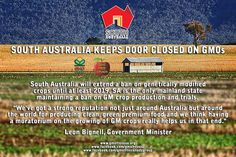 South Australia to continue GM crop ban until 2019 http://buzz.naturalnews.com/001072-GM_crops-ban-South_Australia.html