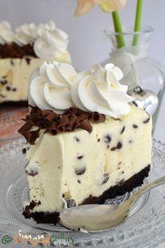 No Bake Chocolate Chip Cheesecake delicious cheesecake simply chocolate cake best cheesecake; best no bake cheesecake cold cheesecake dessert recipe Best No Bake Cheesecake, Chocolate Chip Cheesecake, Cheesecake Desserts, No Cook Desserts, Delicious Desserts, White Chocolate Desserts, Chocolate Recipes, Cookie Recipes, Dessert Recipes