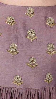 Best 12 Beautiful Hand Embroidery – Page 317855686200707442 – SkillOfKing. Zardozi Embroidery, Hand Embroidery Dress, Embroidery On Kurtis, Kurti Embroidery Design, Embroidery Neck Designs, Couture Embroidery, Embroidered Blouse, Sleeves Designs For Dresses, Dress Neck Designs