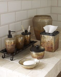 antiqued mercury glass for the bathroom -- \