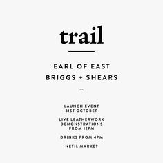 Just working on the finishing touches for the EOEL x BRIGGS + SHEARS launch on Saturday at Netil Market. Look forward to seeing you all there.