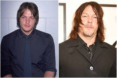 Norman Reedus' eyes coor - blue and hair color - light brown