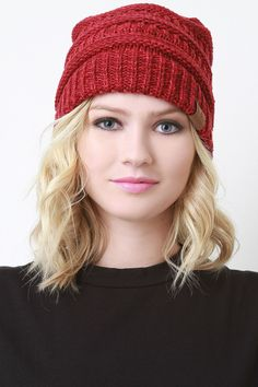 Mottled Ridged Knit #Beanie #FreeShipping On Qualifying Orders