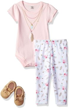 Little Treasure Baby Bodysuit Pant and Shoe Set Feathers 03 Months     Want  additional info  Click on the image(It is Amazon affiliate link). e8987f837