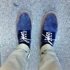 Blue Suede Derby #Shoes