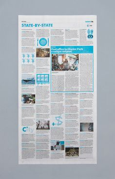 With the help of Wolff Olins, USA Today makes its newspaper more like the web, while the website is more like an iPad app. Newspaper Layout, Newspaper Design, Business Innovation, Innovation Design, Editorial Layout, Editorial Design, Stationery Design, Branding Design, Page Design
