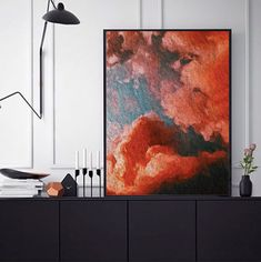 COECLECTIC - Large hand painted artwork on canvas - Cloudscape