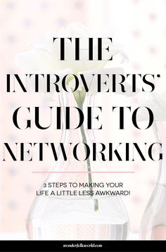 Networking for introverts: a 3 step guide to help introverts make networking more comfortable and less awkward. event ideas Networking for Introverts - Wonderfelle World Professional Networking, Business Networking, Professional Development, Business Marketing, Personal Development, Networking Events, Career Development, Social Events, Email Marketing