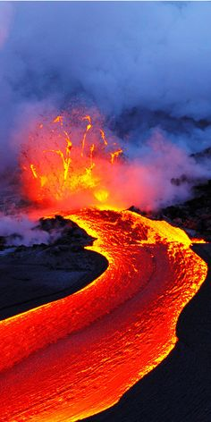 A Great Image the lava.Kilauea.Hawai.