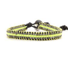 Chan Luu - Neon Lime Single Wrap Bracelet on Natural Black Leather, $170.00 (http://www.chanluu.com/bracelets/neon-lime-single-wrap-bracelet-on-natural-black-leather/)