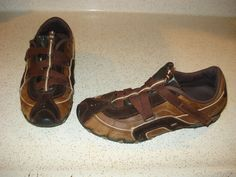 SKECHERS SUEDE LEATHER CRISS CROSS Womens Athletic Shoes Size 10 L@@K !! Brown  #SKECHERS #Athletic