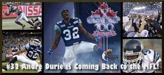 Andre Durie got his start in football with the MFL and he is coming back!  December 17th is your chance to meet Grey Cup Champion Andre Durie when he drops by with the Grey Cup.   What a great opportunity to get an autograph and have your picture taken with the Grey Cup and #32 of the Toronto Argos - 100th Grey Cup Champions!  When:  December 17th 7:15pm-8:15pm  Where:  South Common Community Centre, Youth Room  Open to all MFL Families!