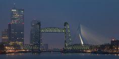 De Hef in Rotterdam met haar nieuwe verlichting