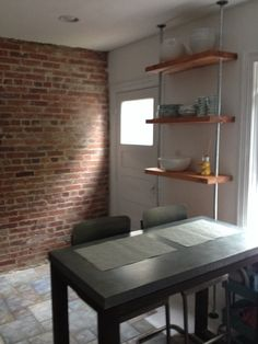 pine poles and cotter pins Galvanized Pipe Shelves, Industrial Farmhouse, Contemporary Design, Kitchen Remodel, Pine, Living Spaces, Barn, Diy Projects, Canada
