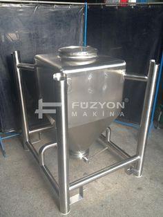 250 litre IBC flowbin Konteyner | Füzyon Makina