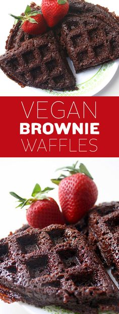 Yes, brownies. In waffle form. AND they're vegan. Use Madhava Brownie Mix and these babies come together superfast—perfect for weekend mornings when you'd rather be snoozing than cooking | refined-sugar free, vegan, vegetarian