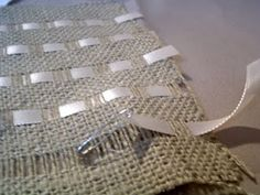 Burlap and Ribbon Pillows -- PBish(?) ~ * THE COUNTRY CHIC COTTAGE (DIY, Home Decor, Crafts, Farmhouse)