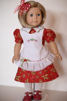 Christmas Holly for Kit - American Girl. $54.00, via Etsy. AnnasGirls.  BearBunny pattern