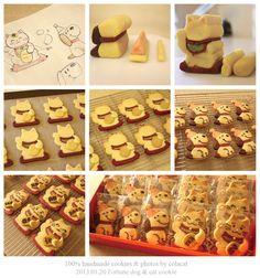 Fortune dog and cat cookies  copyright (c) Colacat