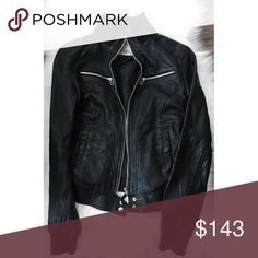 Stylish Leather Jacket This leather jacket is a must have staple piece for every closet. It says it's a size L, but I normally wear a size small and it still fits me well. I would say it could fit anyone from a size S-L, the L would simply be a more fitted look, while the S is a little looser. It's in great condition, only worn once! Zara Jackets & Coats
