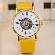 Pluma de reloj de cuarzo Ronda banda de cuero Dial para Mujer para Vender - La Tienda En Online IGOGO.ES